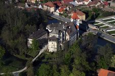 Free Water Castle - Blatná 3 Stock Photo - 8298660