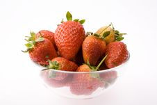 Free Strawberry In Plate Royalty Free Stock Images - 8299069