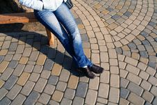 Free Girl On Bench Royalty Free Stock Photos - 8299788