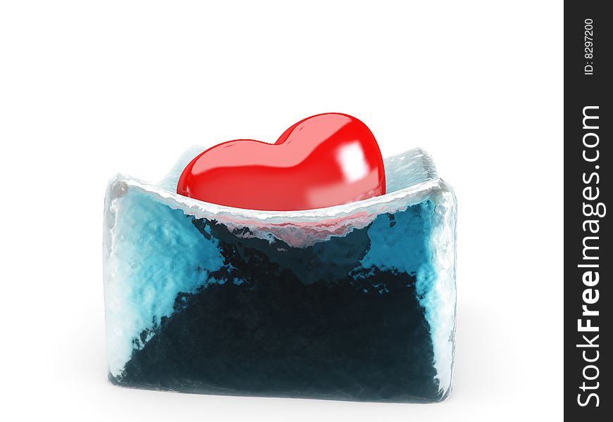 The heart is melting the ice