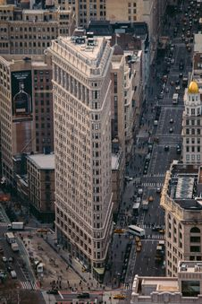 Free Aerial View Of Modern Skyline Stock Photography - 82911862