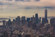 Free Skyline Of Manhattan, New York Royalty Free Stock Photography - 82912237