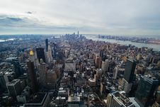 Free Aerial View Of Manhattan Waterfront Royalty Free Stock Photos - 82912268
