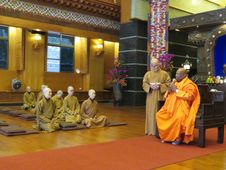 Free Monks In Temple Royalty Free Stock Image - 82912746