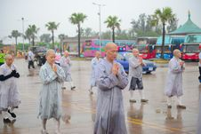Free Monks In Outdoor Procession Royalty Free Stock Photos - 82912808