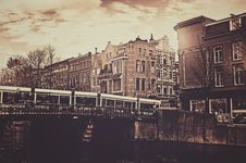 Free Sepia Photography Of Bridge And Concrete House Royalty Free Stock Image - 82932276