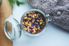 Free Tea Mix In Jar Royalty Free Stock Images - 82932409