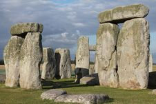 Free Stonehenge Under Dark Clouds Stock Photos - 82932873