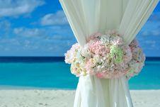 Free Pink White Petal Flower On White Curtain Near White Sand Beach On Daytime Royalty Free Stock Photos - 82933628