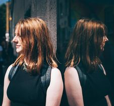 Free Woman In Black Sleeveless Top Wearing Black Backpack Royalty Free Stock Photos - 82934728
