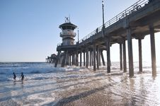 Free Pier By Ocean Shore With Watchtower Stock Images - 82934854