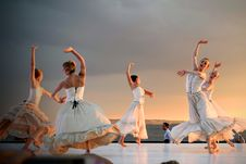 Free 5 Women In White Dress Dancing Under Gray Sky During Sunset Royalty Free Stock Photo - 82936175