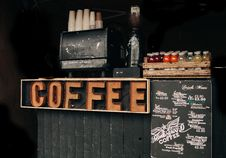 Free Coffee Brown Signage Royalty Free Stock Image - 82936306