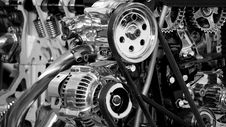 Free Greyscale Photography Of Car Engine Royalty Free Stock Images - 82936869
