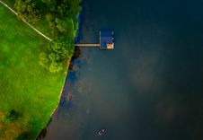 Free Birds Eye View Of A Lake Stock Image - 82937461