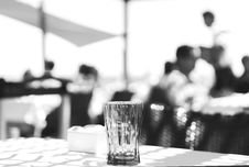 Free Clear Cut Glass Highball Drinking Glass At The Top Of The Table Selective Focus Photography Stock Photography - 82938022
