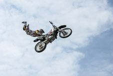 Free Motorbike Stunt Man Stock Images - 82938554