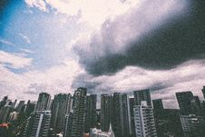 Free City Under Nimbus Clouds Stock Images - 82939294