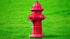 Free Red Fire Hydrant On Green Grass Field Royalty Free Stock Photos - 82946048