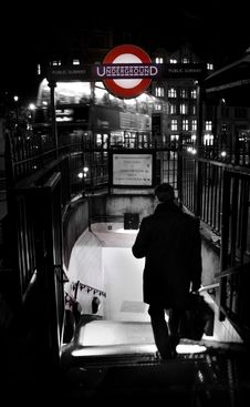 Free Businessman Walking To Metro Station In London Royalty Free Stock Photos - 82946608