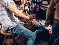 Free Traditional Drum Player Royalty Free Stock Images - 82947319