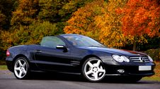 Free Black Mercedes Benz Convertible Coupe Sl Class Royalty Free Stock Photos - 82947408