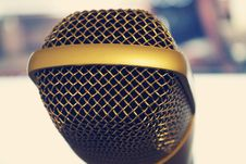 Free Close Up Of Microphone Royalty Free Stock Photos - 82947728
