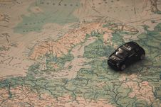Free Miniature Car Over Map Of Baltic Royalty Free Stock Images - 82947759