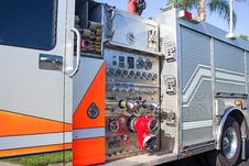 Free Control Panel On Fire Engine Stock Photo - 82948070
