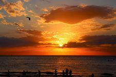 Free Sunset Over Open Sea Royalty Free Stock Photography - 82949057