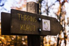 Free Thirring Korut Wooden Signage Royalty Free Stock Images - 82949349