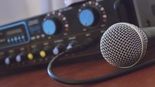 Free Tilt Shift Photography Of Microphone Royalty Free Stock Images - 82949419
