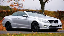 Free Mercedes Benz Silver Coupe Convertible Stock Image - 82949581