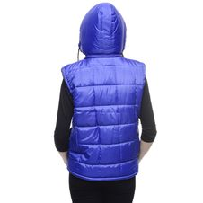 Free Blue Bubble Vest Hoodie Stock Image - 82949681