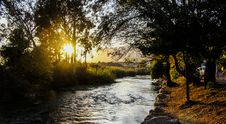 Free River With Tress During Sunny Clear Sky Stock Image - 82949891