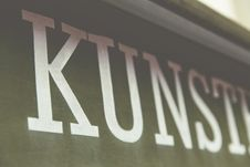 Free Kunst In Letters On Banner Stock Images - 82949934