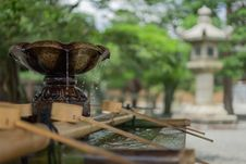 Free Water Fountain At Pagoda Royalty Free Stock Image - 82950006