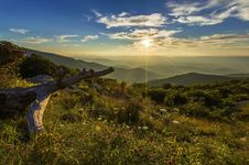 Free Mountain View During Sun Rise Under Blue Sky Photo Stock Images - 82950014