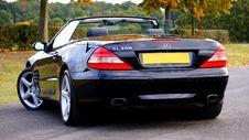 Free Black Mercedes Benz Sl 350 Convertible Coupe Royalty Free Stock Photos - 82950038