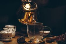 Free Gold Steel Kettle Beside Clear Glass Pitcher Royalty Free Stock Photos - 82950208