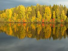 Free Autumn Colors Reflected In A Lake Royalty Free Stock Photography - 82950297