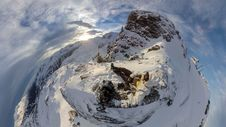 Free Aerial View Of Person On Mountain Summit Royalty Free Stock Photography - 82950377