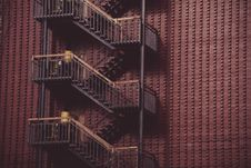 Free Fire Escapes Outside Building Royalty Free Stock Images - 82950609