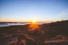 Free Dawn Over Rocky Coastline Royalty Free Stock Image - 82950666