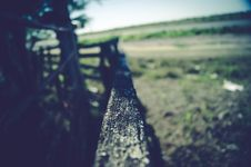 Free Closeup Of Top Rail Of Fence Royalty Free Stock Photo - 82950705