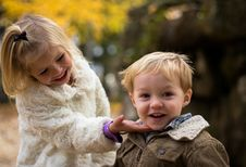 Free Children In Outdoor Portrait Stock Images - 82950764