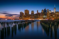 Free New York City Skyline At Dusk Royalty Free Stock Photo - 82950815
