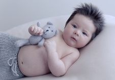 Free Infant Boy With Toy Royalty Free Stock Image - 82951026