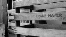 Free Franz Mayer Engraved Wooden Pallet Royalty Free Stock Photo - 82951295