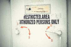 Free Restricted Access Door Stock Images - 82951354